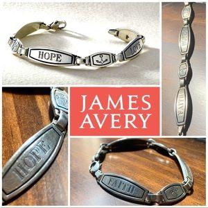 Rare FAITH LOVE HOPE bracelet James Avery Retired